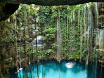 Beautify cenotes just steps away