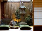 Sip tea and view the ume (plum) and sakura (cherry) trees in our tranquil Spring Garden