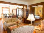 Master Bedroom off living room behind french doors