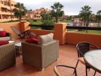 Enjoy the outside life on the terrace.