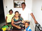 Family at Paradise Palms Jamaica Villa Montego Bay Jamaica using the free internet