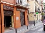 Calle Molinos , el amarillo es nuestro edificio.