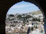 Albaicín visto desde la alhambra a 15 minutos