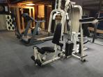 Need a workout - use our weight machine, treadmill, or elliptical