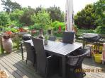 You are welcome to use our outdoor terrasse as well.