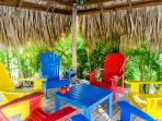 Palapa with 6 chairs