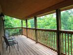 View from main level deck-Summer view (covered porch)