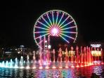 The Island of Pigeon Forge is 3.1 miles from the cabin.
