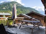huge terrace with stunning 180 views including mont blanc and gorge de la diosaz