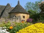 Flowers around the stonebuilt gites in our hamlet