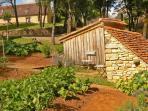 Pick-your-own vegetable garden at Hameau du Sentier des Sources, Sarlat