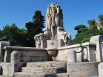 Amphorae Fountain-3 minutes away from home