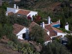 From the village of Comares...the villas