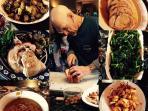 Mark Oppenheimer preparing a meal