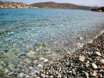 Crystal clear waters at Plaka beach