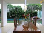 Dining Table Overlooking Pool