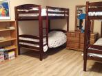 Third bedroom with two twin-size bunk beds