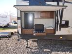 Outdoor Kitchen with Grill, Fridge, Stove, Sink