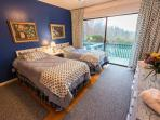 The Twin Bedroom called the Blueberry Room.