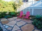 Garden Cottage - with enchanted garden seating for unforgettable evening sunsets.