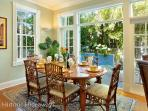 Dining Room Opens to Outdoors