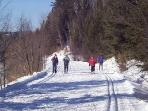 This trail ( p'tit train du nord ) is over 25km long !