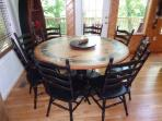 Hand painted dining table that seats eight