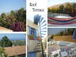 Panoramic views of the sea & mountains from the roof terrace