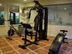 Tropical and private mini gym
