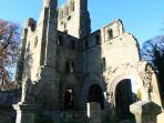 Kelso Abbey in nearby Kelso