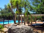 Casa do Theatro nice  and near pool area with shadow and sunchairs for relaxing and refreshing
