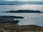 from the rear of the cottage you can access the Great Bernera walk with spectacular views