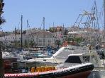 The Marina area with several bars, restaurants and boat excursions only 300m away