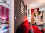 Vista general dormitorio y salón