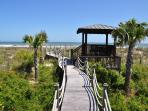 Boardwalk with Gazebo to Beach