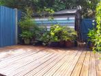 Sunny south-facing deck