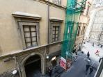 view on the street towards the Duomo, from the Queen Bedroom