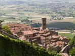 Hilltop Etruscan town of Cortona only a 10 minute drive from Villa Bellavista!