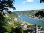 Blick auf St. Goar - View of Rhine