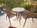 Lanai Furniture for dining, morning coffee, a glass of wine, or to enjoy the view of Mt. Haleakala
