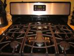 5-Burner Gas Stove and Oven.