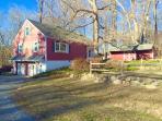 Farmhouse home with Pond and canoe
