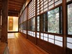 The corridor through the Shoji screens