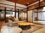 Living are with the Japanese room on your right.