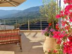 Tremendous views of the White Mountains from your roof terrace, amidst the bourgainvillea