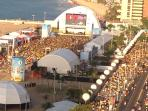 Vista desde a varanda para os eventos na Praia/Meireles