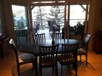 Dining area opens to deck