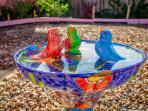 Handcrafted Birdbath from Talavera Mexico