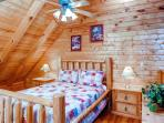 Loft Bedroom - 2 bedroom cabin in Pigeon Forge TN