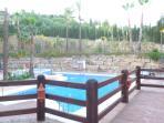 piscina 2. al fondo a la izquierda el jacuzzi